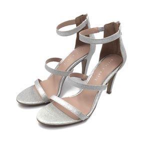 KELLY & KATIE Cleo SZ 8.5 Silver Glitter Ankle New